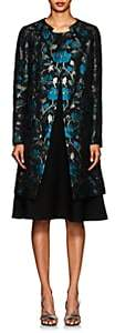 Zac Posen Women's Floral Mousseline Coat - Blue, Green