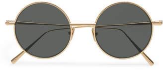 Acne Studios Scientist Round-Frame Gold-Tone Sunglasses - Men - Black