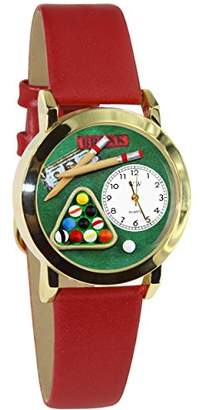 Whimsical Watches Kids' C0430007 Classic Billiards Red Leather And tone Watch