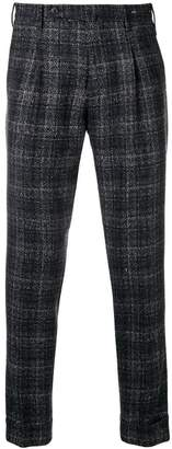 Pt01 cropped checked trousers