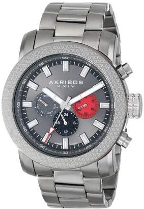 Akribos XXIV Men's AK684GN Grandiose Swiss Quartz Multifunction Stainless Steel Bracelet Watch