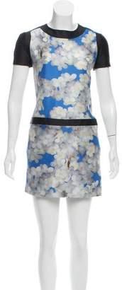 Victoria Beckham Victoria Floral Print Mini Dress