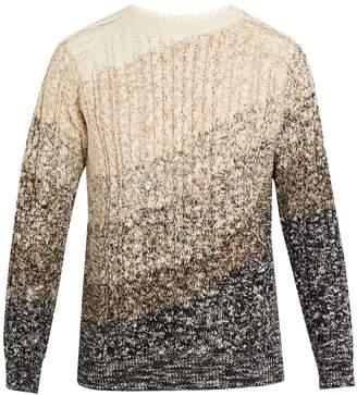 MAISON KITSUNÉ Crew-neck cable-knit cotton sweater