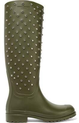 Saint Laurent Festival Crystal-embellished Rubber Rain Boots
