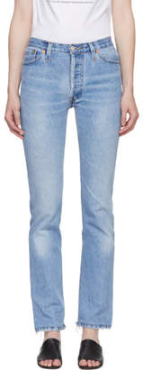 RE/DONE Indigo Levis Cindy Crawford Edition Cindy Jeans