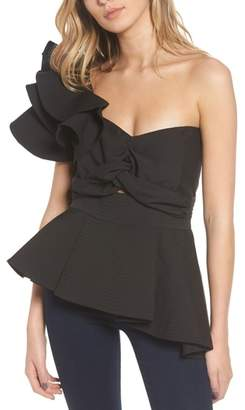 STYLEKEEPERS So Long Lover Ruffle One-Shoulder Blouse