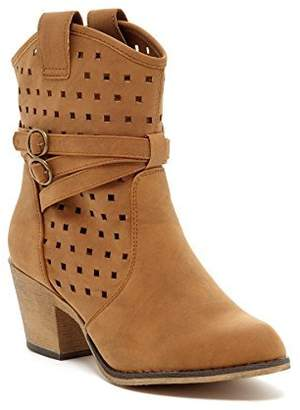 Charles Albert Women's Laser-Cut Perforated Western Cowboy Boot with Pull-up Tabs in Size: 8