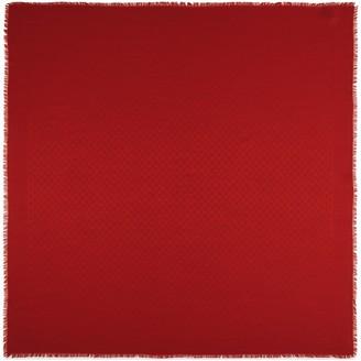 Gucci Silk wool GG jacquard shawl