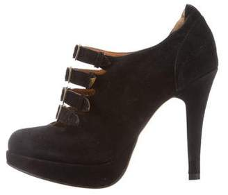 Charlotte Ronson Suede Ankle Booties