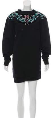 Just Cavalli Embroidered Embellished Dress