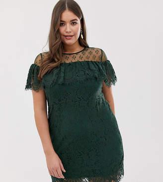 Bardot Lovedrobe lace panelled dress