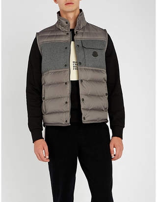 Moncler Quilted shell and wool gilet
