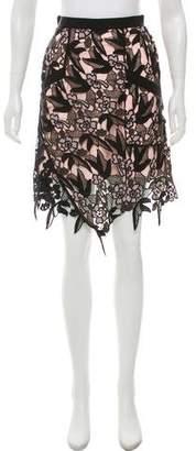 Self-Portrait Floral Guipure Lace Skirt