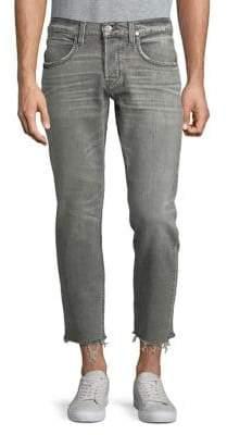 Hudson Cropped Frayed Hem Jeans