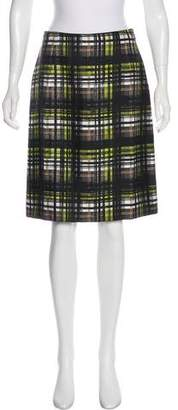 Prada Plaid Knee-Length Skirt