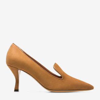 Palmyre Brown, Womens kid suede pumps with 70mm heel in cowboy Bally