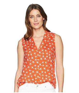 NYDJ Sleeveless Button Detail Top