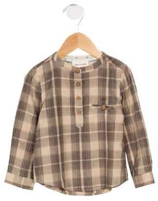 Arsène et les Pipelettes Boys' Plaid button-Up Shirt