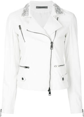 Simonetta Ravizza embellished collar biker jacket