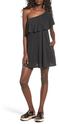 Women's Bp. One-Shoulder Ruffle Dress $49 thestylecure.com