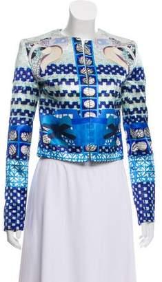 Mary Katrantzou Printed Silk Structured Blazer