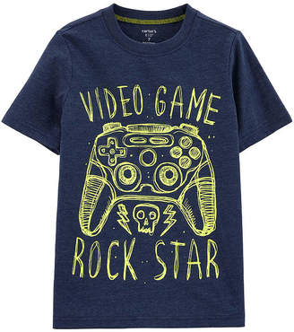 Carter's Video Game Boys Round Neck Short Sleeve Graphic T-Shirt Preschool / Big Kid