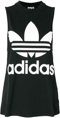 adidas Trefoil print vest top