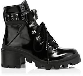 36da6e3d7 Alice + Olivia Women's Havis Buckle Leather Combat Boots