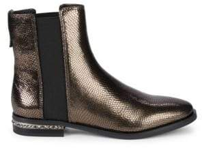 a328667aaf9 Franco Sarto Racine Embossed Snakeskin Leather Ankle Boots