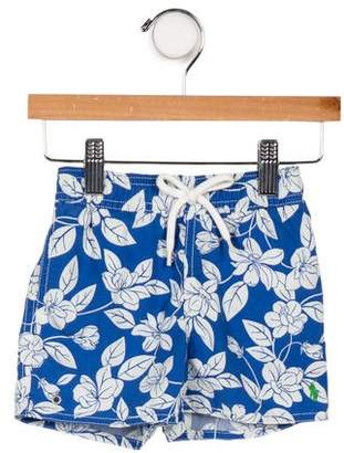 Ralph Lauren Boys' Floral Print Drawstring Shorts