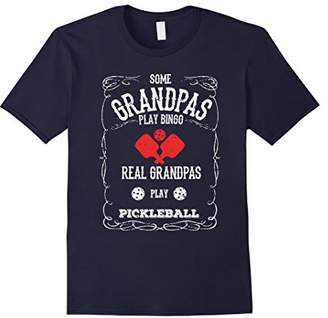 Mens Real Grandpas Play Pickleball T-Shirt