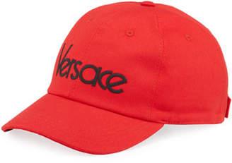 Versace Men's Logo Embroidery Baseball Hat