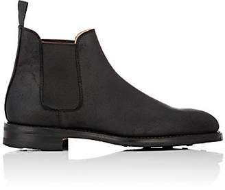 Crockett Jones Crockett & Jones Men's Chelsea 5 Rough-Out Suede Boots - Black