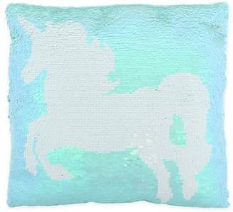 Capelli New York Flip Sequin Unicorn Accent Pillow