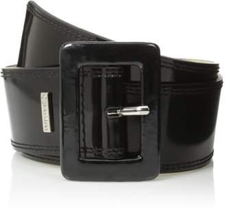 Calvin Klein Women's Patent Flat Contour Belt with Double Stitched Edge