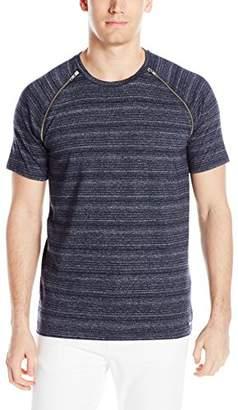 GUESS Men's Linear Space-Dye Raglan T-Shirt