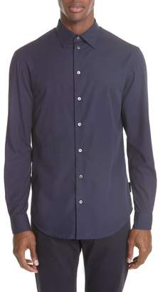 Emporio Armani Regular Fit Solid Dress Shirt