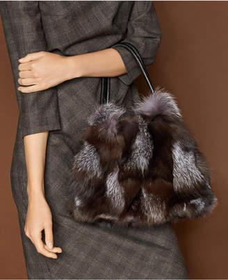 The Fur Vault Fox Fur Handbag
