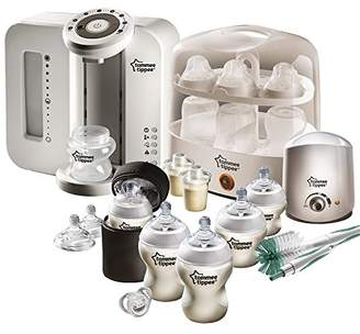Tommee Tippee Perfect Prep Machine and Feeding Set Bundle, White