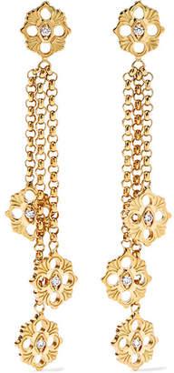 Buccellati Opera 18-karat Gold Diamond Earrings