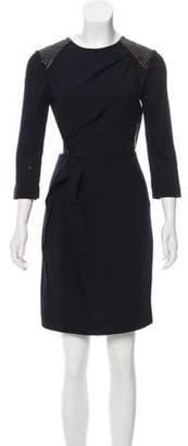 Roksanda Wool-Blend Mini Dress brown Wool-Blend Mini Dress
