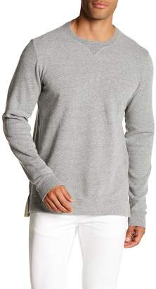 Velvet Crew Neck Solid Pullover