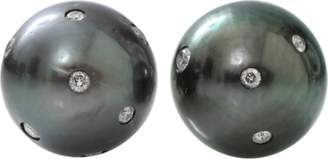 Jordan Alexander Round Tahitian Pearl Stud Earrings