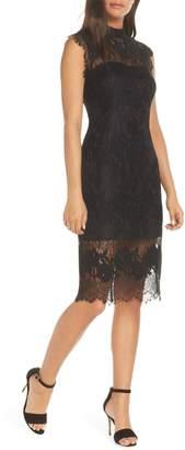 Adelyn Rae Naila Mock Neck Lace Dress