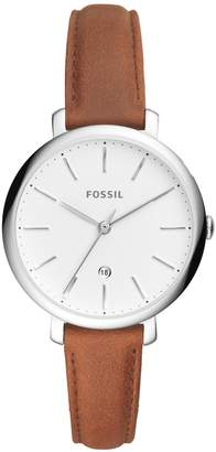 Fossil Jacqueline Leather Strap Watch, 36mm