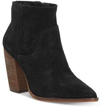 Vince Camuto Women's Cava Perforated Stacked Heel Booties