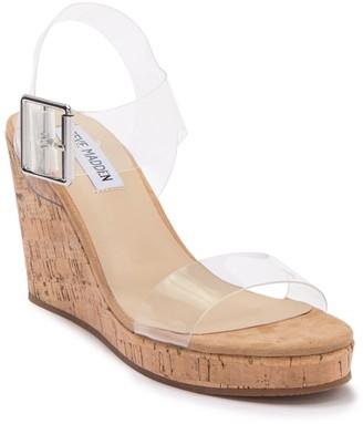 Steve Madden Bloom Clear Wedge Sandal