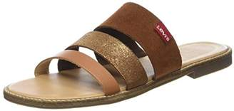 Levi's Women's Cotati 2 Flip Flops, (Light Brown 26)