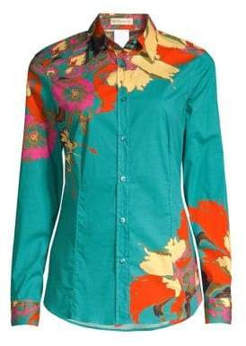 Etro Floral Cotton Fitted Blouse