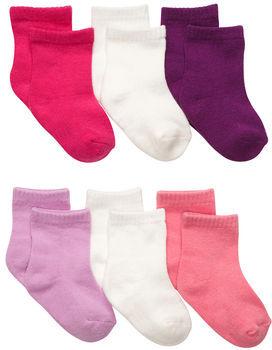 Osh Kosh 6-Pack Quarter Length Crew Socks